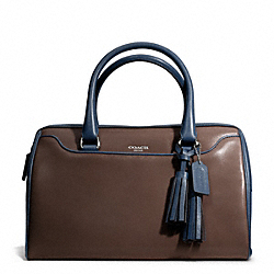 COACH F25807 - TWO TONE LEATHER HALEY SATCHEL SILVER/MDNGHT OAK/CSTL BLUE