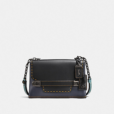 COACH F25833 COACH SWAGGER CHAIN CROSSBODY IN COLORBLOCK BP/NAVY-BLACK