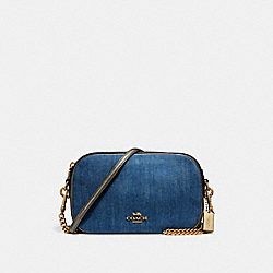 COACH F25879 Isla Chain Crossbody DENIM MULTI/LIGHT GOLD