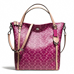 COACH F25881 - PEYTON DREAM C CONVERTIBLE SHOULDER BAG SILVER/BORDEAUX/TAN