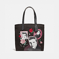 TOTE WITH ELVIS™ COLLAGE - f25882 - SILVER/BLACK MULTI