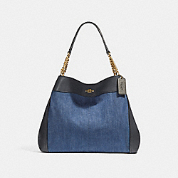 LEXY CHAIN SHOULDER BAG - f25884 - DENIM MULTI/LIGHT GOLD