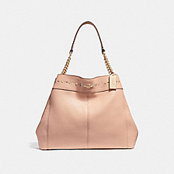 COACH F25894 - LEXY CHAIN SHOULDER BAG WITH FLORAL TOOLING NUDE PINK/LIGHT GOLD