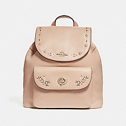 COACH F25895 - MINI BILLIE BACKPACK WITH FLORAL TOOLING NUDE PINK/LIGHT GOLD