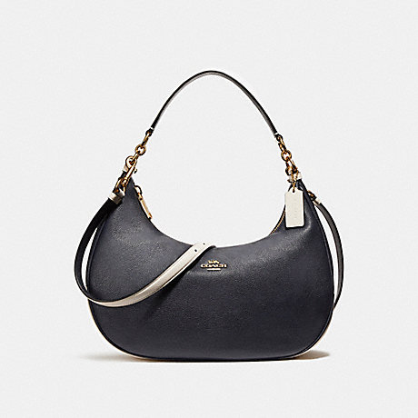 COACH f25896 EAST/WEST HARLEY HOBO IN COLORBLOCK MIDNIGHT/CHALK/Light Gold