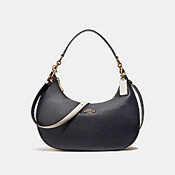 COACH EAST/WEST HARLEY HOBO IN COLORBLOCK - MIDNIGHT/CHALK/Light Gold - F25896