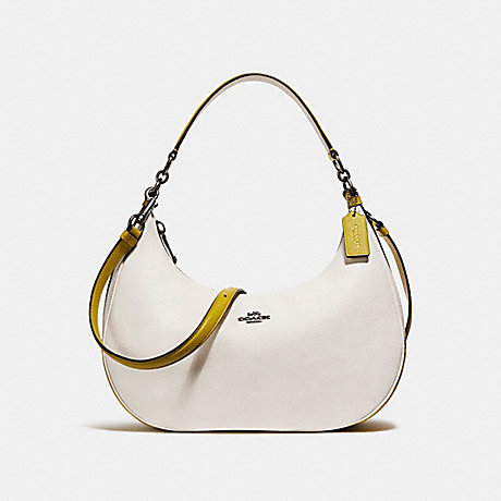 COACH f25896 EAST/WEST HARLEY HOBO IN COLORBLOCK CHALK/CHARTREUSE/BLACK ANTIQUE NICKEL