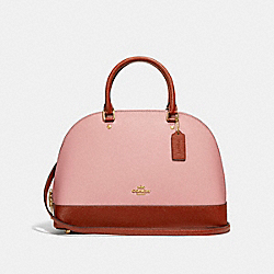 COACH F25899 - SIERRA SATCHEL IN COLORBLOCK BLUSH/TERRACOTTA/LIGHT GOLD