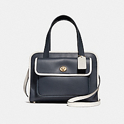 COACH F25900 Safari Tote MIDNIGHT/CHALK/LIGHT GOLD