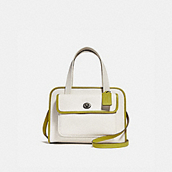 COACH F25900 - SAFARI TOTE CHALK/CHARTREUSE/BLACK ANTIQUE NICKEL