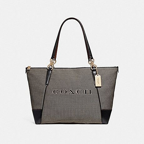 COACH f25913 AVA TOTE MILK/BLACK/LIGHT GOLD