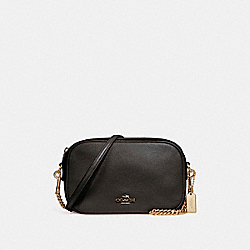 COACH F25922 Isla Chain Crossbody LIGHT GOLD/BLACK