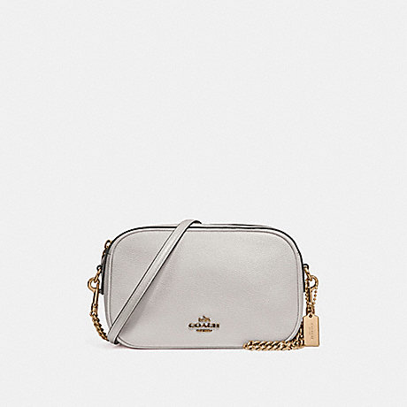 COACH f25922 ISLA CHAIN CROSSBODY CHALK/LIGHT GOLD