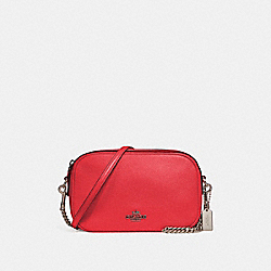 COACH F25922 Isla Chain Crossbody BLACK ANTIQUE NICKEL/POPPY