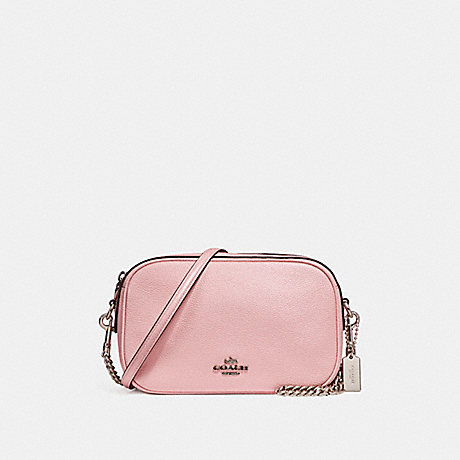 COACH f25922 ISLA CHAIN CROSSBODY SILVER/BLUSH 2
