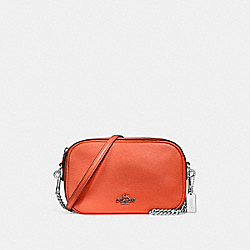 COACH F25922 Isla Chain Crossbody ORANGE RED/SILVER