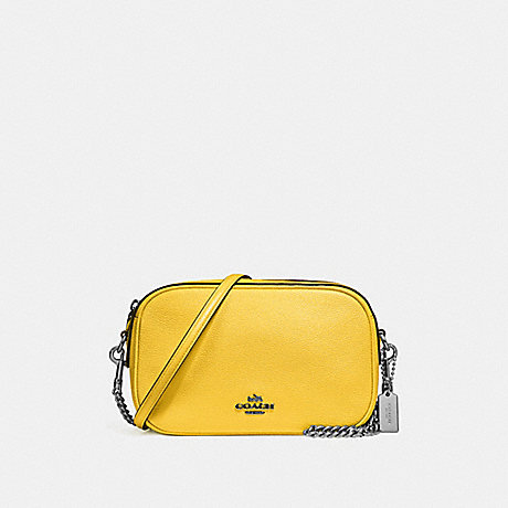 COACH f25922 ISLA CHAIN CROSSBODY CANARY 2/SILVER