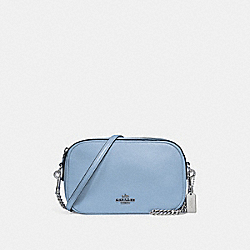COACH ISLA CHAIN CROSSBODY - SILVER/POOL - F25922