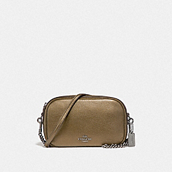COACH F25925 - ISLA CHAIN CROSSBODY BLACK ANTIQUE NICKEL/METALLIC FERN