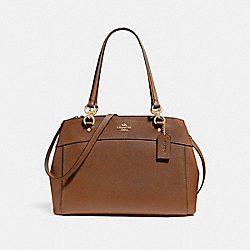 LARGE BROOKE CARRYALL - F25926 - GOLD/SADDLE 2