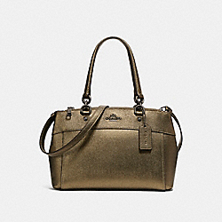 COACH F25928 - MINI BROOKE CARRYALL BLACK ANTIQUE NICKEL/METALLIC FERN
