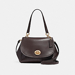 FAYE CARRYALL - f25934 - LIGHT GOLD/OXBLOOD 1