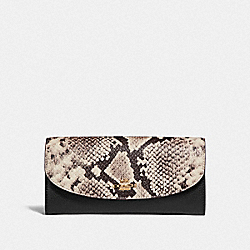 SLIM ENVELOPE WALLET - f25939 - LIGHT GOLD/BLACK MULTI