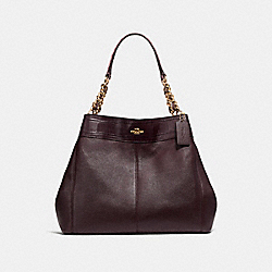 COACH F25944 - LEXY CHAIN SHOULDER BAG LIGHT GOLD/OXBLOOD MULTI