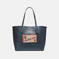 COACH CITY TOTE WITH CAMPBELL'S® MOTIF - SILVER/MIDNIGHT - F25948