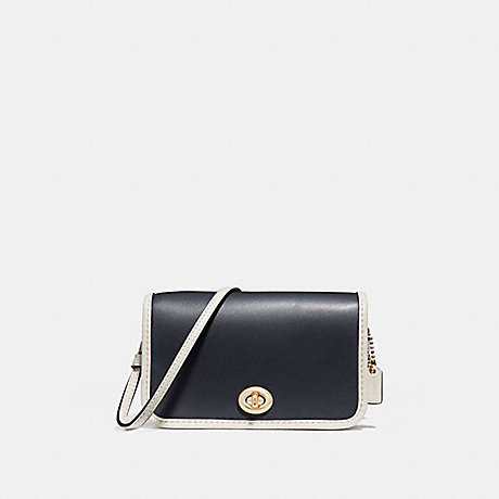 COACH f25951 MICRO PENNY CROSSBODY MIDNIGHT/CHALK/Light Gold