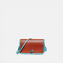 COACH MICRO PENNY CROSSBODY - TERRACOTTA/BLUE GREEN/BLACK ANTIQUE NICKEL - F25951