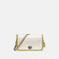 COACH F25951 Micro Penny Crossbody CHALK/CHARTREUSE/BLACK ANTIQUE NICKEL
