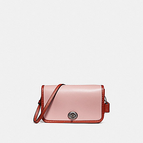 COACH f25951 MICRO PENNY CROSSBODY BLUSH/TERRACOTTA/BLACK ANTIQUE NICKEL