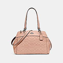 BROOKE CARRYALL IN SIGNATURE LEATHER - f25952 - NUDE PINK/LIGHT GOLD