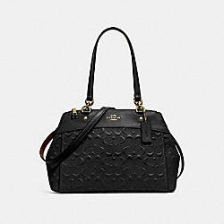 BROOKE CARRYALL IN SIGNATURE LEATHER - f25952 - BLACK/light gold