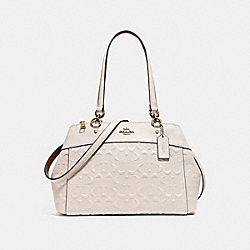 BROOKE CARRYALL IN SIGNATURE LEATHER - f25952 - CHALK/LIGHT GOLD