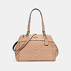 BROOKE CARRYALL IN SIGNATURE LEATHER - f25952 - BEECHWOOD/light gold
