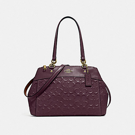 COACH F25952 BROOKE CARRYALL IN SIGNATURE LEATHER OXBLOOD-1/LIGHT-GOLD