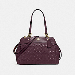 BROOKE CARRYALL IN SIGNATURE LEATHER - f25952 - oxblood 1/light gold