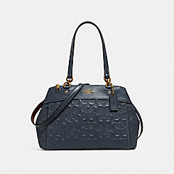 BROOKE CARRYALL IN SIGNATURE LEATHER - f25952 - MIDNIGHT/LIGHT GOLD