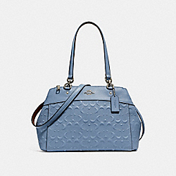 BROOKE CARRYALL IN SIGNATURE LEATHER - f25952 - SILVER/POOL
