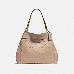 LEXY SHOULDER BAG IN SIGNATURE LEATHER - f25954 - NUDE PINK/LIGHT GOLD
