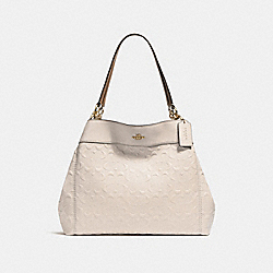 LEXY SHOULDER BAG IN SIGNATURE LEATHER - f25954 - CHALK/LIGHT GOLD