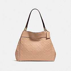 LEXY SHOULDER BAG IN SIGNATURE LEATHER - f25954 - BEECHWOOD/light gold