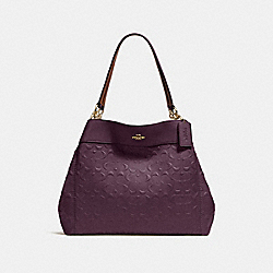 LEXY SHOULDER BAG IN SIGNATURE LEATHER - f25954 - oxblood 1/light gold