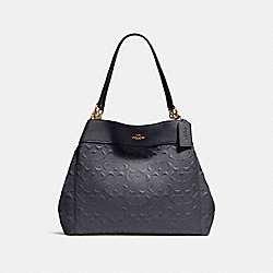 LEXY SHOULDER BAG IN SIGNATURE LEATHER - f25954 - MIDNIGHT/LIGHT GOLD