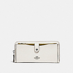 COACH MULTIFUNCTION WALLET IN COLORBLOCK - CHALK/CHARTREUSE/BLACK ANTIQUE NICKEL - F25967