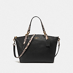 COACH F25979 Small Kelsey Satchel LIGHT GOLD/BLACK MULTI