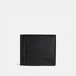 COACH F26016 - MONEY CLIP BILLFOLD BLACK