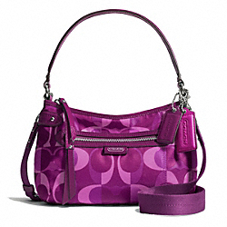 COACH F26022 - DAISY DREAM C PRINT CROSSBODY SILVER/BERRY MULTICOLOR